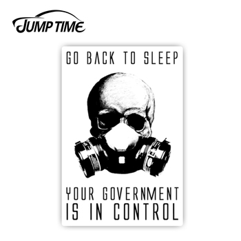 Jump Time 13cmx8.7cm Government Anarchy 911 Anonymous Anti New World Order Vinyl Decal Sticker Car Window Bumper Car Accessories image