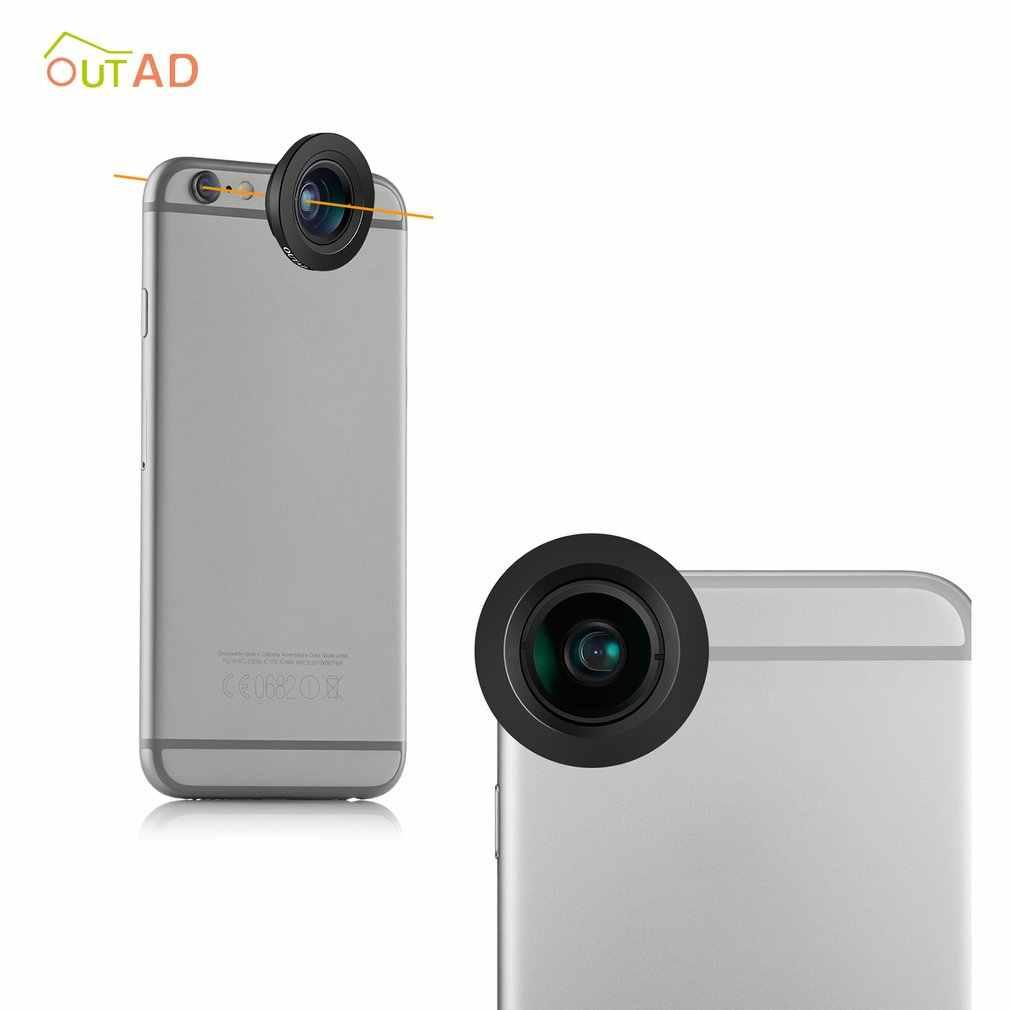 120 度広角マイクロレンズのための 1 で 2 クリップオン携帯電話カメラレンズ用サムスンの Android スマートフォン