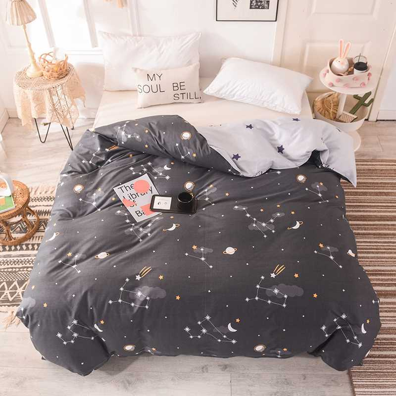 2019 New Product 1pc 100%Cotton Pastoral Style Flowers Colorful Printed Duvet Cover