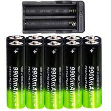 18650 3.7v 9900mah Iithium Ion akumulator 10 szt. Bateria + przewodowa opłata za latarki oświetlenie awaryjne urządzenia przenośne