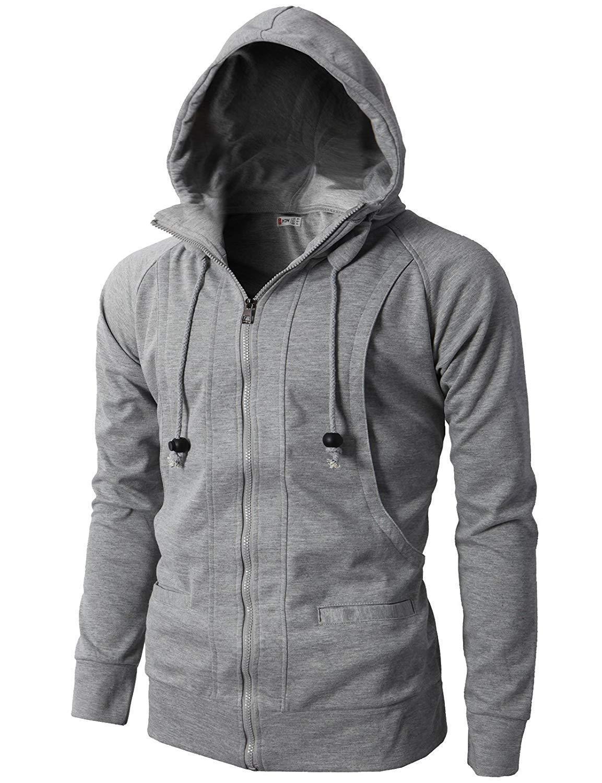 Solid Mens Hoodies Fashion Mens Zipper Sweatshirt Slim Fit Jackets Mens Hoodie Hip Hop Hoodies Sportswear Tracksuit Clothing 3XL
