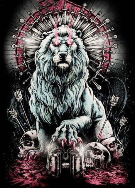 Painting By Numbers Lion Skulls Gothic Fantasy Horror