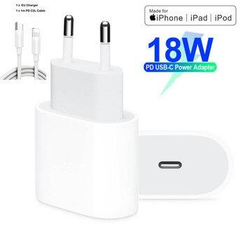 18W PD USB Typ C Ladegerät Adapter Für iPhone 11 Pro Xr X Xs Max 8 Plus Schnelle Lade EU UNS Stecker Reise Ladegerät für Apple Geräte