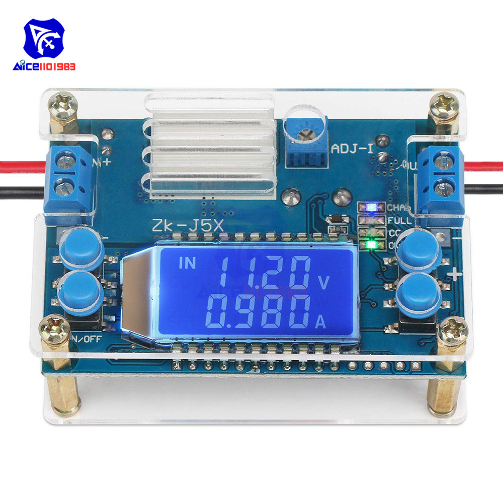 CC CV DC 6.5-36V To 1.2-32V 5A 75W Step Down Buck Converter Power Supply Module Voltage Regulator Transformer With Case Heatsink