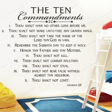 The Ten Commandments Exodus Vinyl Wall Decal  quote wall sticker home decor removable art mural JH61 gym fitness wall sticker motivational quote vinyl art decal removable home room decor