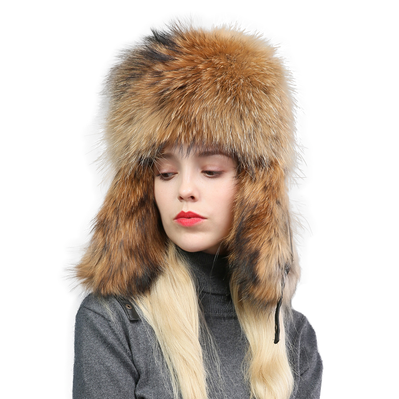 Leather Lei Feng Hat Men And Women Fox Maomaozi Winter Tide Earmuffs Outdoors Keep Warm Leather And Fur Northeast Skiing Hat