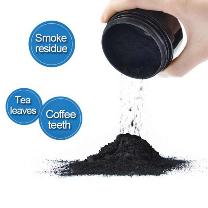 Uso quotidiano Sbiancamento Dei Denti Scala In Polvere Igiene Orale Pulizia Imballaggio Premium Carbone Attivo di Bambù del Carbone di legna In Polvere 100% Naturale 30g