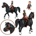 Farm Animal Figures Toy Riding Horse Figurine Horse Rider Action Figures Model Collectible Model Doll For Kids Gifts