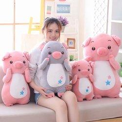 Lindo abajo algodón Miss piel de cerdo juguetes de peluche pareja cerdos de juguete almohada suave niños Pacify muñeca