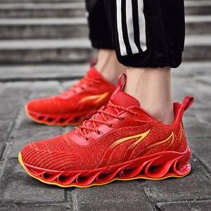 Image 2 - 2020 חדש גברים סניקרס מקרית אופנה גברים להב סניקרס Zapatos דה Hombre גברים רשת לנשימה נעליים חיצוני נעלי ספורט גברים