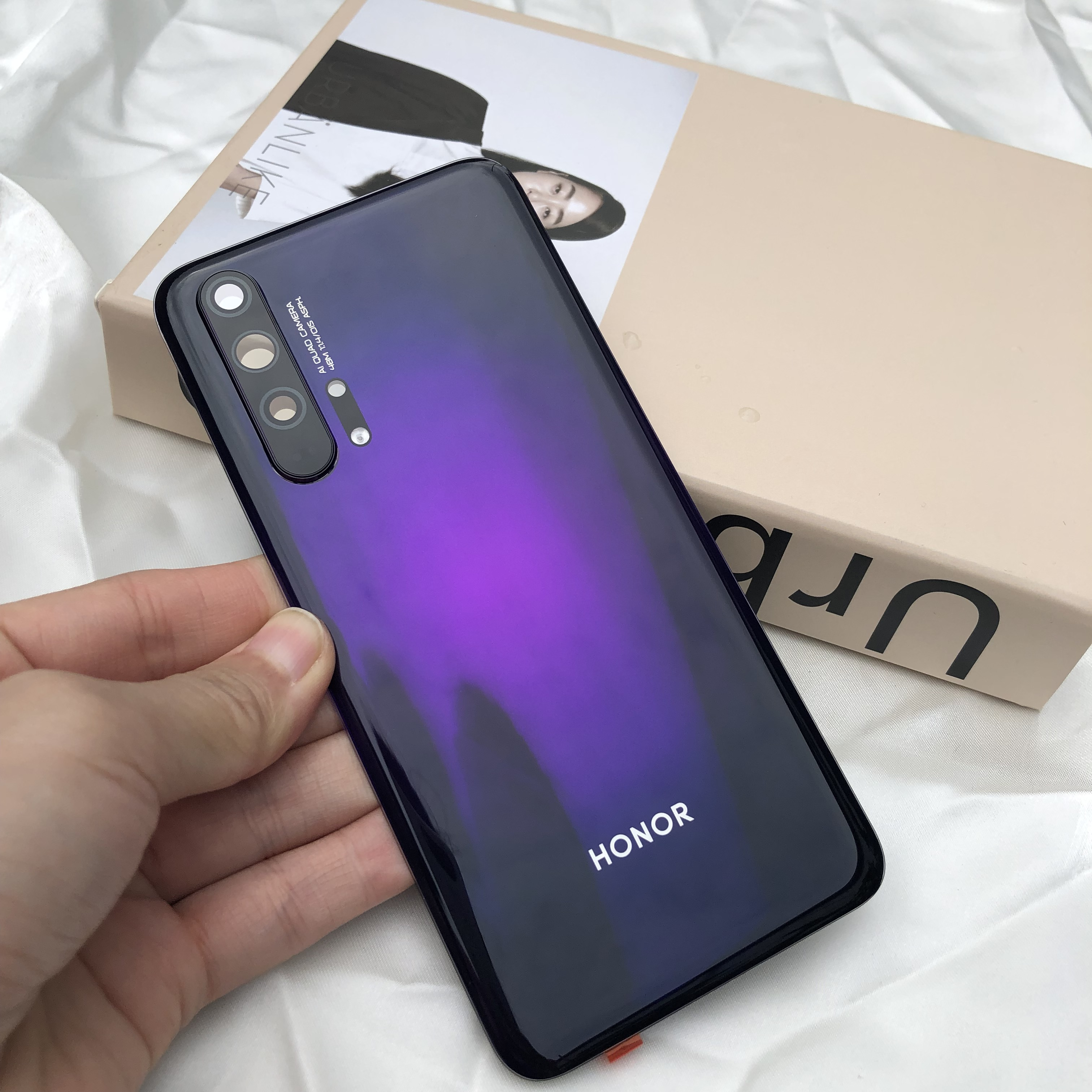 Image 5 - Original Tempered Glass Back Battery Cover Door Housing   Flash  cover   camera lens For Huawei Honor 20 Pro Service Spare PartsMobile  Phone Housings