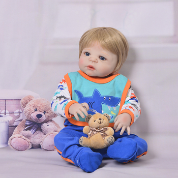 real 0-3months doll clothes with reborn doll 55cm gentle touch full vinyl silicone baby doll boy for children girls gift toy