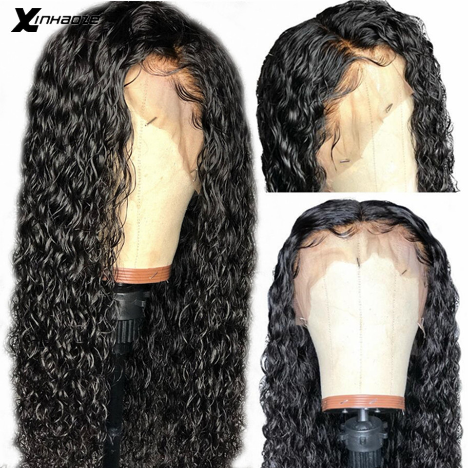 Water Wave Lace Front Human Hair Wigs 13X6 Pre Plucked With Baby Hair Remy Malaysian Wet And Wavy Deep Part Human Hair Wigs