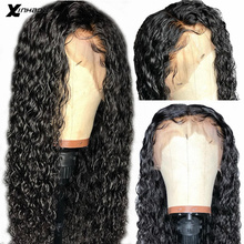 Water Wave Lace Front Human Hair Wigs 13X6 Pre Plucked With Baby Hair Remy Malay