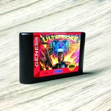 "Ultracore ארה""ב תווית Flashkit MD Electroless זהב PCB כרטיס עבור Sega Genesis Megadrive וידאו קונסולת משחקים"