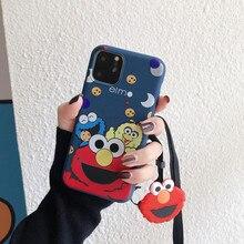 Phone-Case Elmo Sesame Street Back-Cover 6s-Plus Cartoon JAMULAR for 7-x-xs/Max/11-pro/..