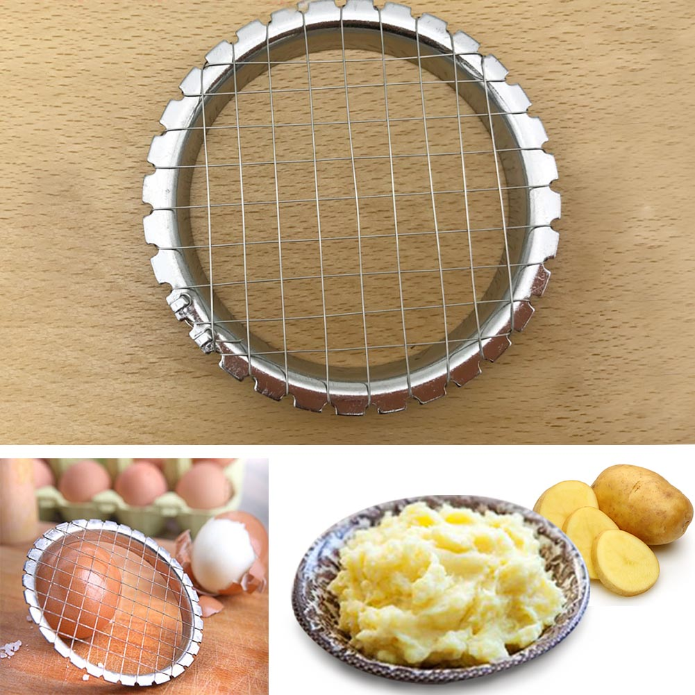 Mashed Potato Hand Press Slicer Stainless Steel Grid Cutter Egg Slicer Potato Slicer Mold Tomato Sectioner Vegetables Salad Tool