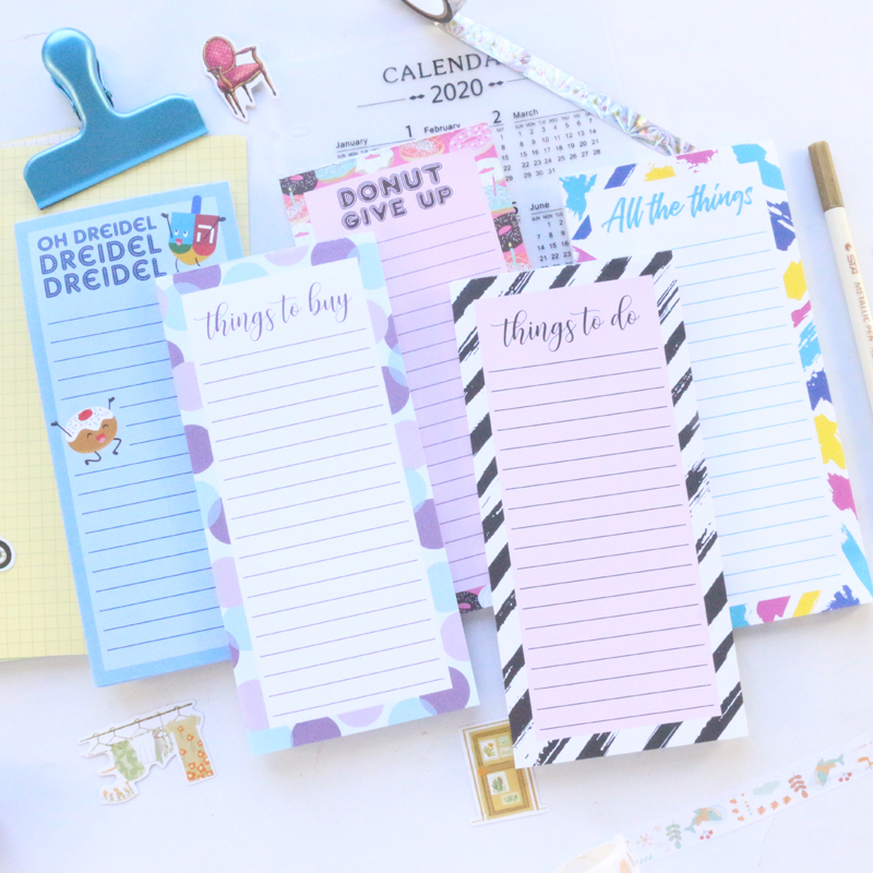 Domikee Cute Candy Magnet Fridge Notes Pad And Pencil Set Fine Cartoon Magnetic Memo Pad For Refrigerator Stationery 60sheets