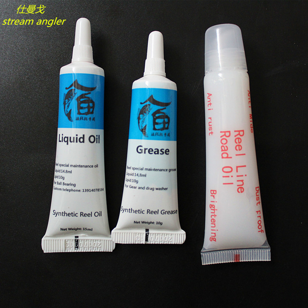 Oil Grease For Fishing Wheel Bearing Lubricant Rod Maintenance Oil 3pcs/lot Free Shipping