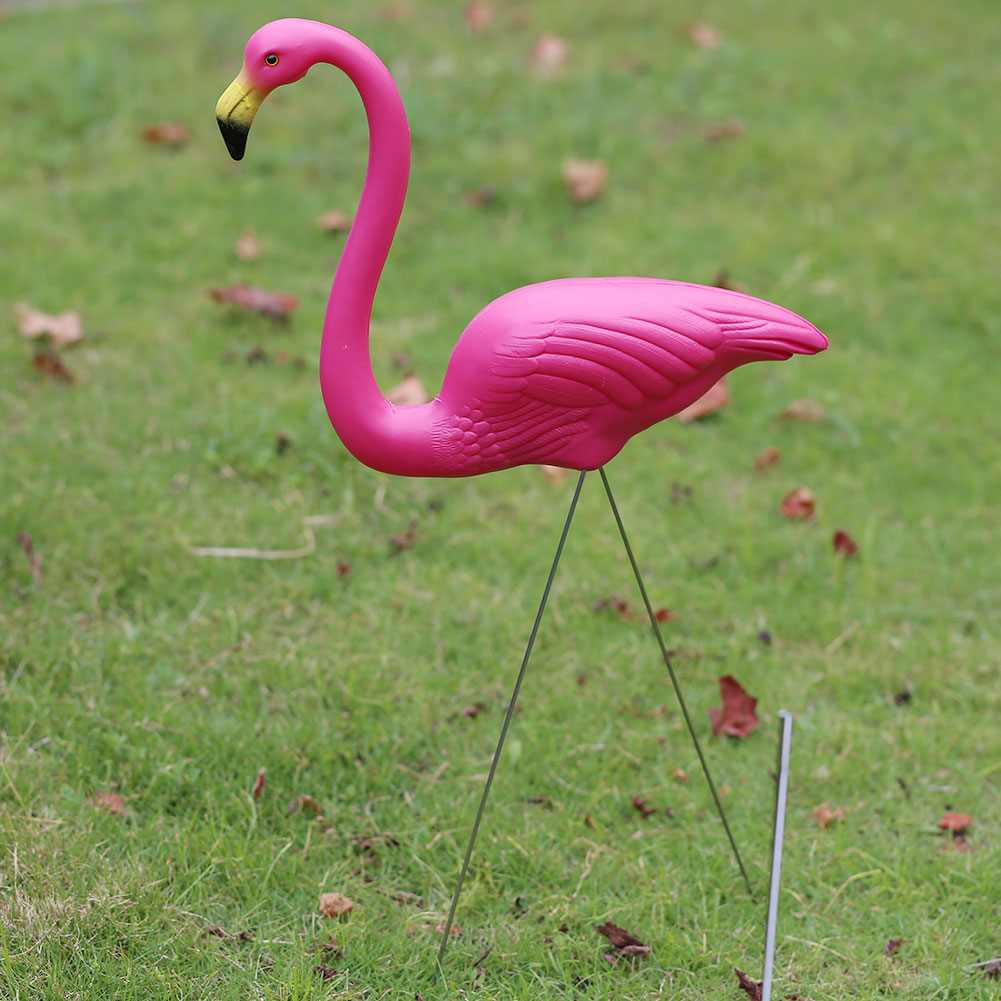SOLEDI 1 Set Outdoor Gardening Decor Decal Flamingo Garden Artificial Flamingo Pink/Red for Festival Villa Home Garden Supply