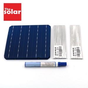 Image 1 - モノラル太陽電池パネル 100 ワット 112 ワット 200 ワット 300 ワット 396 ワット 125 156 DIY ソーラー充電器キット Monocrystall 太陽電池タブ操作ワイヤーバスバーフラックスペン