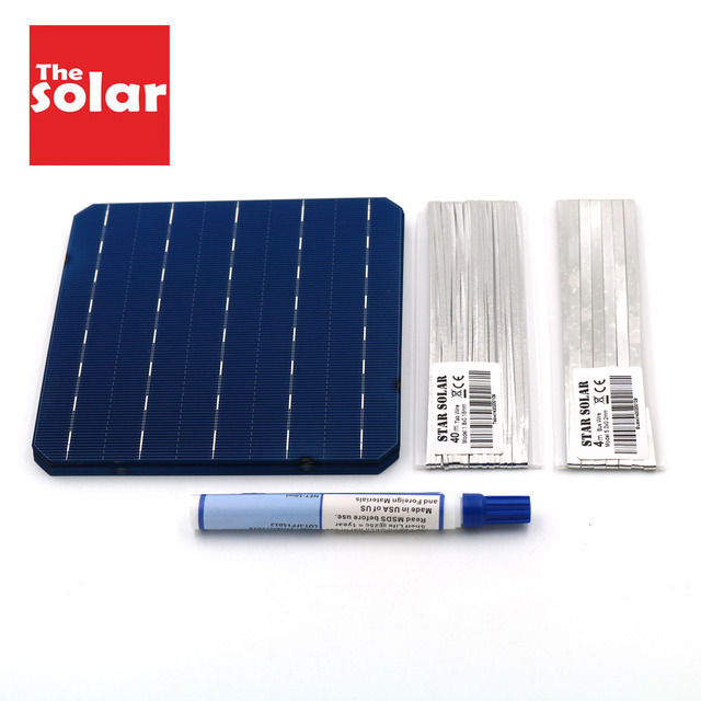 モノラル太陽電池パネル 100 ワット 112 ワット 200 ワット 300 ワット 396 ワット 125 156 DIY ソーラー充電器キット Monocrystall 太陽電池タブ操作ワイヤーバスバーフラックスペン