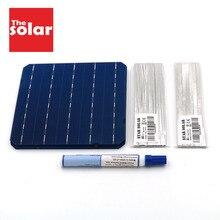 Mono Panel słoneczny 100W 112W 200W 300W 396W 125 156 DIY ładowarka solarna zestaw monokrystaliczny ogniwo słoneczne przewód oznaczony topnik szynowy
