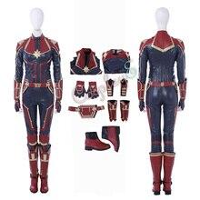 Капитан Костюм Марвел Капитан Марвел Косплей Carol Danvers полный комплект