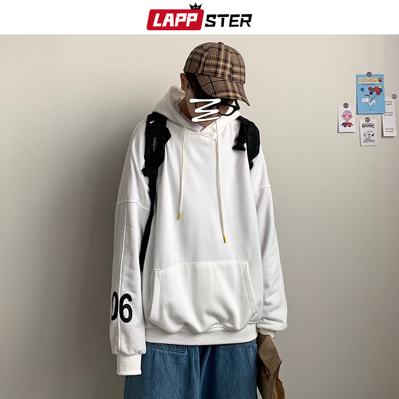 LAPPSTER Men Oversized Colorful Sweatshirts Hoodie 2020 Spring Japanese Streetwear Mens Fashions Hooded Hoodies Hip Hop Clothes