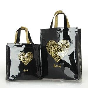 Fashion PVC Reusable Shopping Bag Women's Bag Eco Friendly London Shopper Bag Large Capacity Waterproof Handbag Shoulder Bag(China)