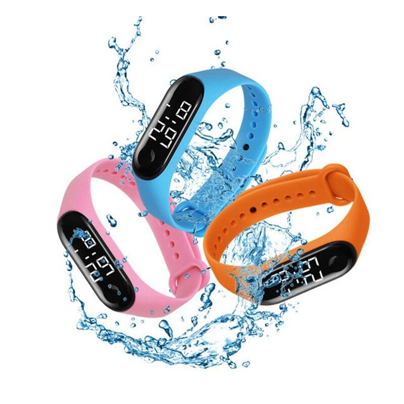 50M Waterproof Digital Watch Silicone LED Sport Wrist Watch Touch Screen Wristband Digital Wristwatches For Men Women Kids