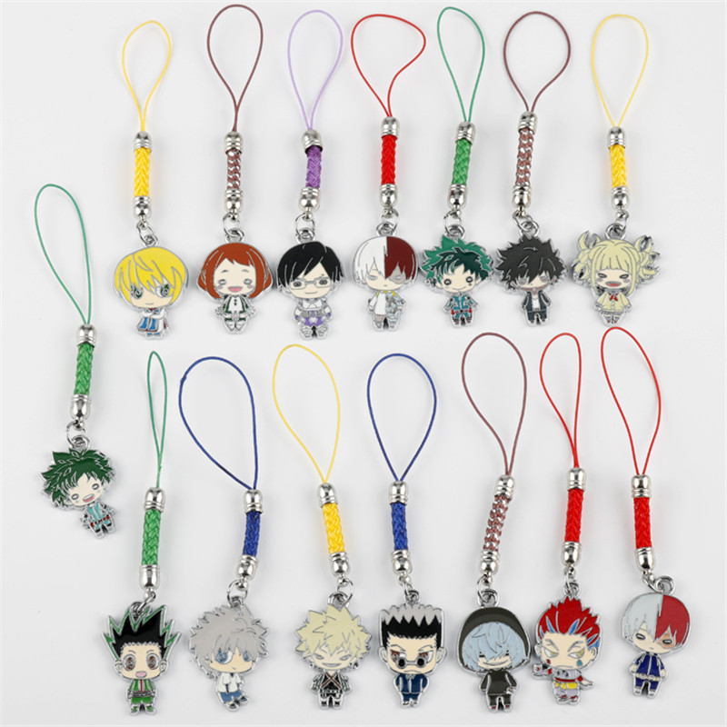 Fashion Lovely My Hero Academia Key Chains Metal Alloy Keychain Hand Made Cosplay Pendant Keyring Cartoon Anime Collection Gift