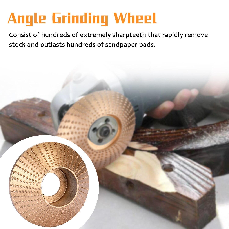 Madeira madeira ângulo de moagem roda lixar