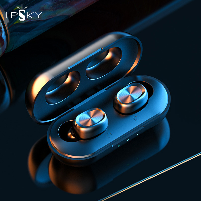 IPSKY Wireless <font><b>Headphones</b></font> Bluetooth 5.0 Fitness Sport TWS <font><b>Earphone</b></font> LED Android Earbuds For iPhone <font><b>Huawei</b></font> Xiaomi HiFi Stereo MP3 image