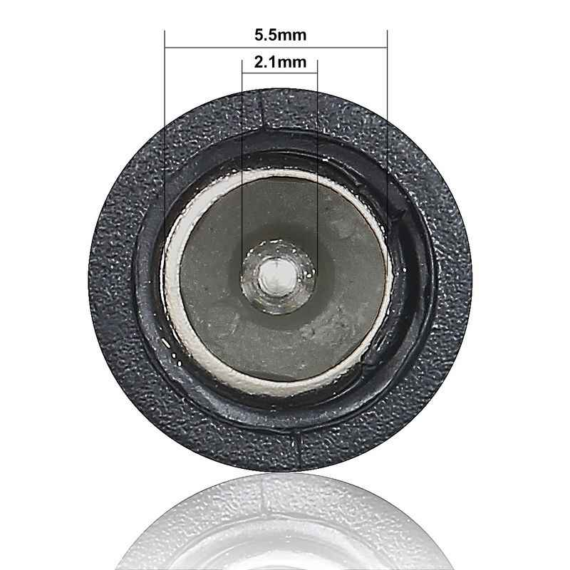 5.5 millimetri x 2.1 millimetri Martinetti di Estensione di Alimentazione Cavo di 1m 3m Fili di Rame 5V 9V 12V 2DV DC Cavo del Connettore Per La Striscia del LED Pannello Solare Macchina Fotografica del CCTV