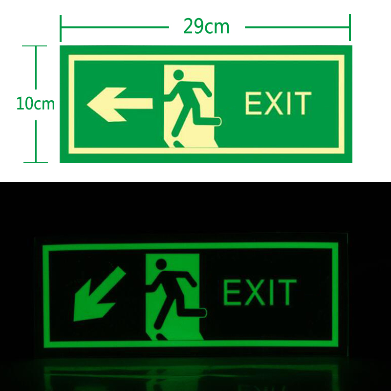 5 Pieces/set  Luminous Sticker Self-adhesive Glow In The Dark Afety Stage Sticker  Supplies Emergency Exit