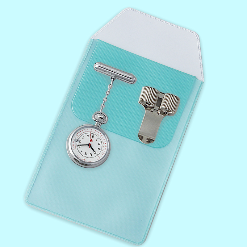 Pendant Nurse Watch with 1 Penbag and 1 Pen Clips Medical Pocket Watch Doctor Chest Watch Female Suit Stationary Unisex Quartz