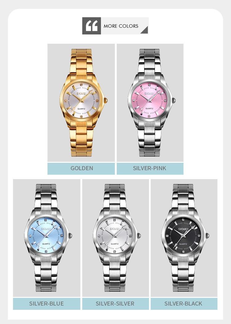 H6041eea1c0514ddc8dc78218d5e53a4dN 2020 SKMEI Casual Women Romantic Quartz Watches Luxury Female Girl Clock Waterproof Ladies Wristwatches Relogio Feminino 1620
