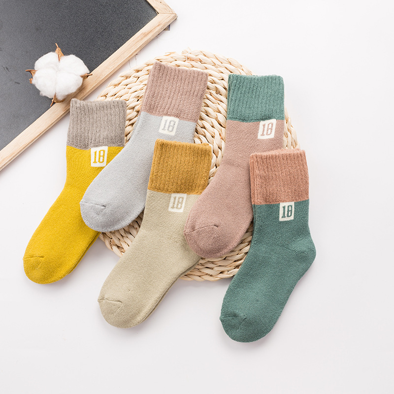 New Products Children Towel Socks Terry Socks BABY'S Socks Thick Men And Women Children Towel Socks Chun Se Wa Socks