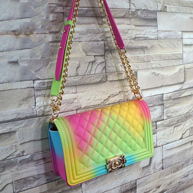 GW Luxury Handbags Square Handbags Women Colorful Jelly Handbags High Quality 2020 Designer New Style