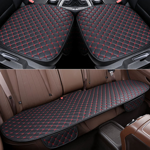 Image 5 - Car Seat Cover Set Universal Leather Car Seat Covers Protection Auto Seats Cushion Pad Mats Chair Protector Interior Accessories