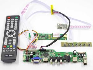 Yqwsyxl плата управления + DC 12 В 3A адаптер питания комплект для LP154WX5 ТВ + HDMI + VGA + AV + USB ЖК-светодиодный экран управления Лер плата драйвера