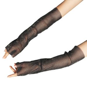 Women Full Glitter Rhinestone Arm Warmer