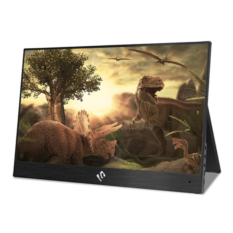13.3 inch <font><b>1080P</b></font> HD <font><b>Portable</b></font> <font><b>Monitor</b></font> USB Type-C HDMI Display Touch Screen With Stereo for PS4/Xbox/NS-Switch/Laptop/Phone US Plug image