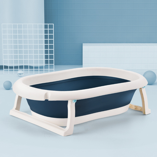 Newborn Baby Folding Bath Tub Baby Swim Tubs Body Washing Portable Children Non-Slip Safe Bathtub Cleaning Supplies
