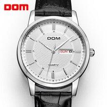 Dom Mode Quartz Horloges Mannen Luxe Merk Waterdichte Lederen Band Mannen Polshorloge Relogio Masculino Mannelijke Klokken Man 2018