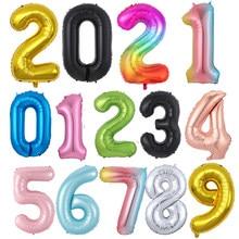 Grands ballons en aluminium 40 pouces, à hélium, chiffres 0-9, décorations de fête d'anniversaire, de mariage, de douche, grandes figurines, globo