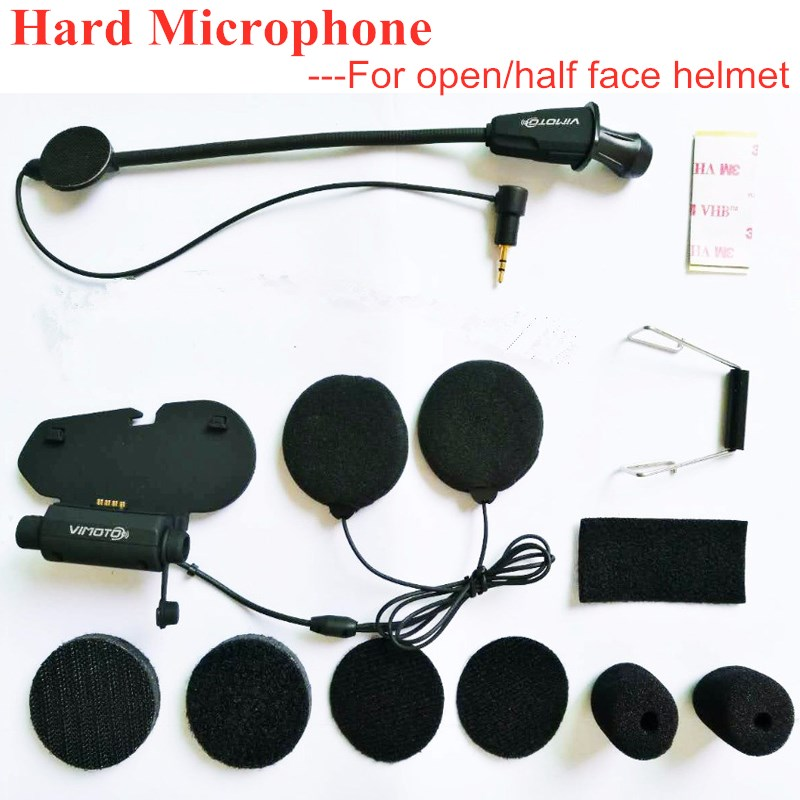 Earpiece Microphone For Vimoto V3/V6 Bluetooth Intercom Motorcycle Helmet Headset