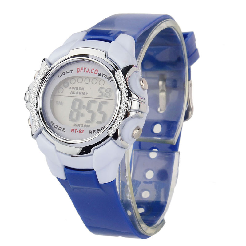 Children Waterproof Digital LED Quartz Alarm Date Sports Wrist Watch  Candy Color Silicone Wrist Watch For Children Kids Q