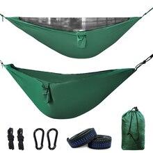 Гамак Geertop для кемпинга со съемной москитной сеткой легкая сборка с высокой грузоподъемностью(300 кг) с ремнями для дерева и карабинами